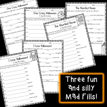 Mad About Mad Libs: Halloween Edition {Parts of Speech Activity}