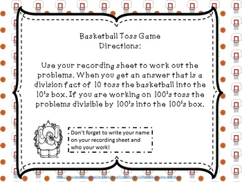 Mad About March Division Toss Math Game