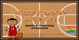 Mad About March {Literacy & Math Activities} Basketball Theme, Common Core