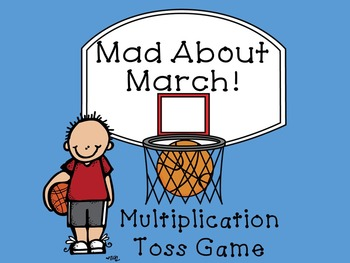 Mad About March Multiplication and Division Toss Game Bundle
