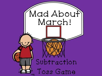Mad About March Subtraction Toss Math Game