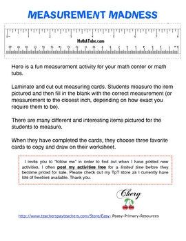 Mad About Measurement!