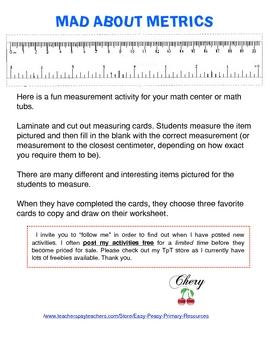 Mad About Metrics Measurement Activities