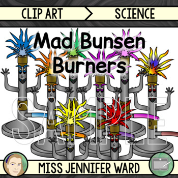 Mad Bunsen Burners Clip Art