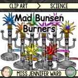 Mad Bunsen Burners Clip Art