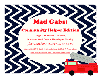 Mad Gabs: Community Helper Edition
