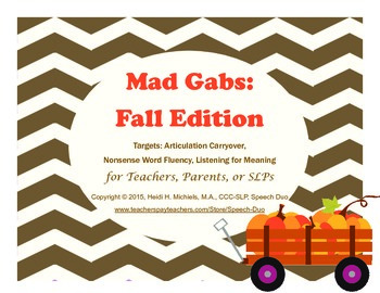 Mad Gabs: Fall Edition