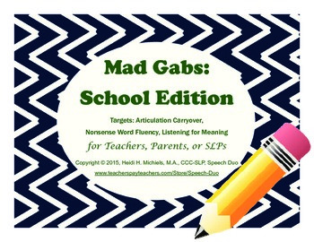 Mad Gabs: School Edition