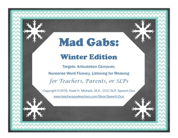 Mad Gabs: Winter Edition