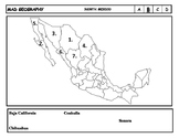 Mad Geography Mexican States Blank Map Tests