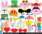 Mad Hatters Tea Party booth Props Digital Clip Art 110 ima