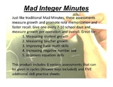 Mad Integer Minutes - Yearlong Assessments