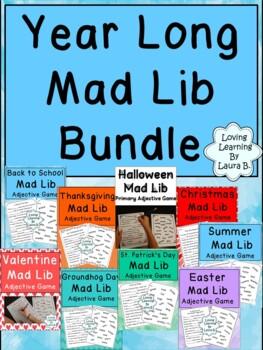 Mad Lib Adjective Game Best Seller Bundle!