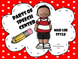 Mad Lib Parts of Speech Center
