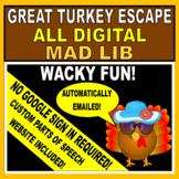 Mad Lib The Great Turkey Escape - Digital (Google Classroo