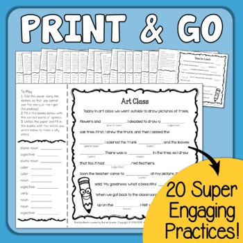 Blankity-Blanks - Parts of Speech Game Similar to Mad Libs