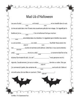 Mad-Lib d'Halloween