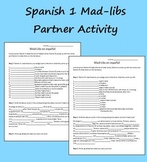 Mad-Libs Activity to Review Spanish 1