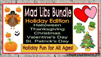 Mad Libs Bundle: Holiday Edition (Holiday Fun for Middle and High School!)