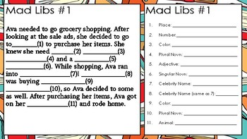 Mad Libs: Classroom Fun for All Ages!