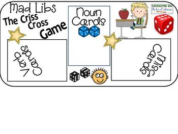 Mad Libs Game Board Materials~ the complete bundle!