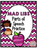 Mad Libs (set of 12) Parts of Speech Practice