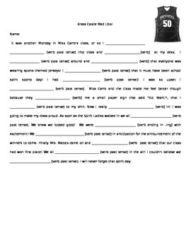 Mad Libs - Personalized for your class!
