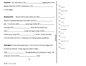 Mad Libs Skit Pack #1