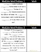 Mad Libs Word Problem Task Cards: All Operations of Fractions