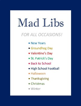Mad Libs for All Occasions