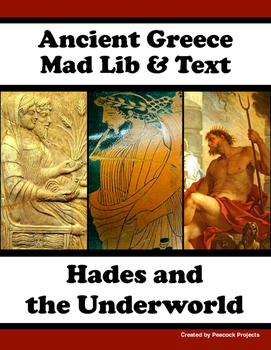 Ancient Greece & Hades in the Underworld - Passage, Mad Libs and Vocabulary