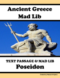 Ancient Greece & Poseidon - Passage, Mad Libs, Vocabulary