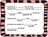 Mad Libs- nouns and prepositions only