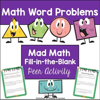 Mad Math Fill in the Blank Activity