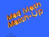 Mad Math Match-Up for 1st grade