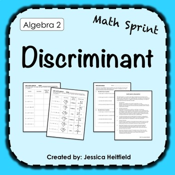 Discriminant Activity: Math Sprints
