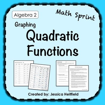 Quadratic Functions Stations Worksheets & Teaching Resources