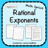 Rational Exponents Activity: Math Sprints