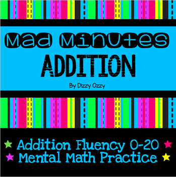 Mad Minute Addition Practice Sheets Teaching Resources | Teachers ...