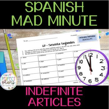 Mad Minute - 60 Segundos - Indefinite Articles - Avancemos 1 Unidad 1 Lección 2