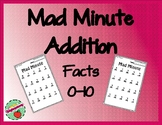 Mad Minute Addition: Facts 0-10