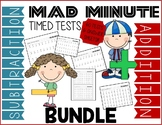 Mad Minute Addition & Subtraction Bundle - Timed Tests & Answer Sheets