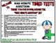 Mad Minute Addition Timed Tests & Answer Sheets