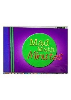 Mad Minute Flipchart - Teacher tracks student progress