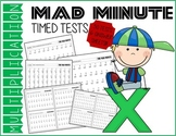Mad Minute MULTIPLICATION Timed Tests & Answer Sheets