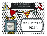 Mad Minute Math /4th Grade - Multiplication fact review