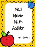 Mad Minute Math Addition