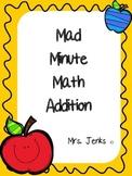 Mad Minute Math Addition