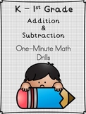 Mad Minute Math Addition & Subtraction: One-Minute Math Drills