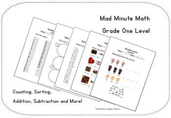Mad Minute Math - Gr. 1